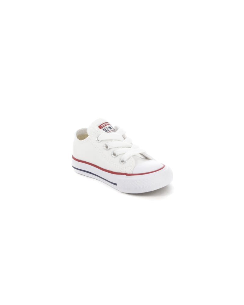 CONVERSE INFANT CHUCK TAYLOR ALL STAR LOW TOP WHITE/RED/NAVY