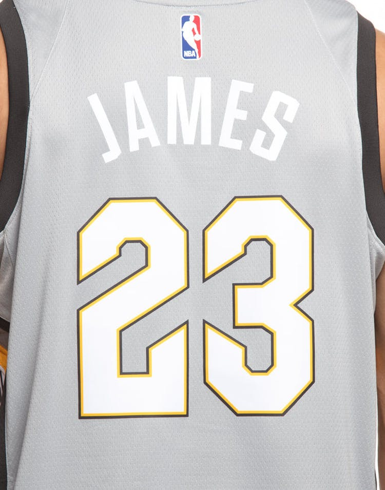 84bb5ce7c Nike Cleveland Cavaliers  23 LeBron James City Edition Swingman Jersey  Silver