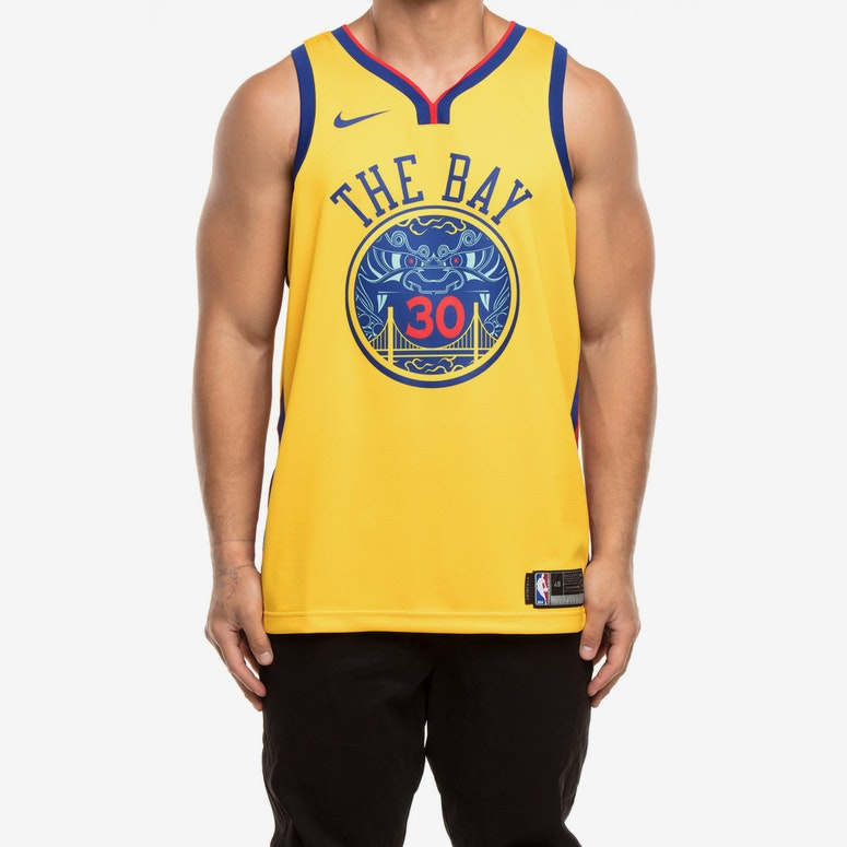 new style 5cd92 e3244 Nike Golden State Warriors #30 Stephen Curry City Edition Swingman Jersey  Yellow