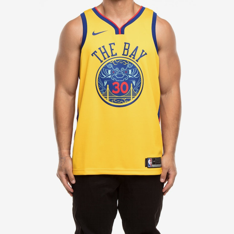 new style 5b94d 49b33 Nike Golden State Warriors #30 Stephen Curry City Edition Swingman Jersey  Yellow