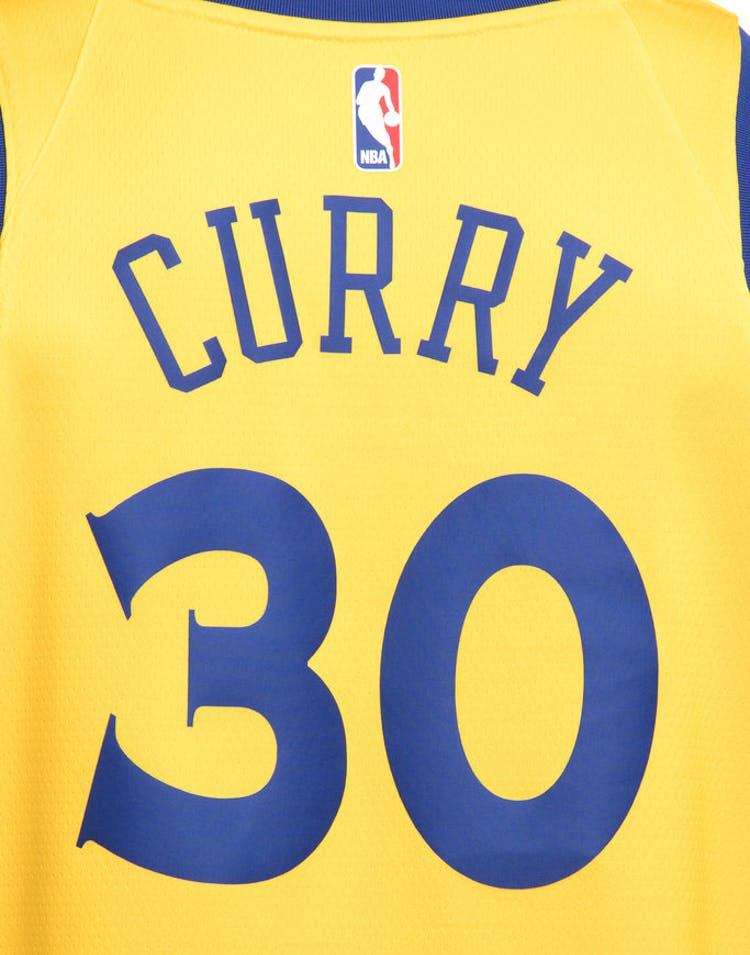 new style 0f951 49652 Nike Golden State Warriors #30 Stephen Curry City Edition Swingman Jersey  Yellow