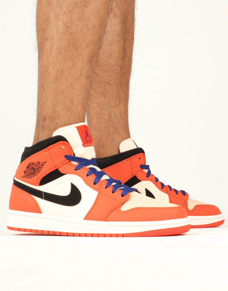 reputable site 1cbee 4a0c2 Jordan Air Jordan 1 Mid SE Orange White Black