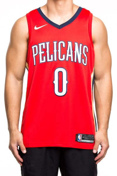 Nike New Orleans Pelicans #0 DeMarcus Cousins Statement Edition Swingman Jersey Red/Navy