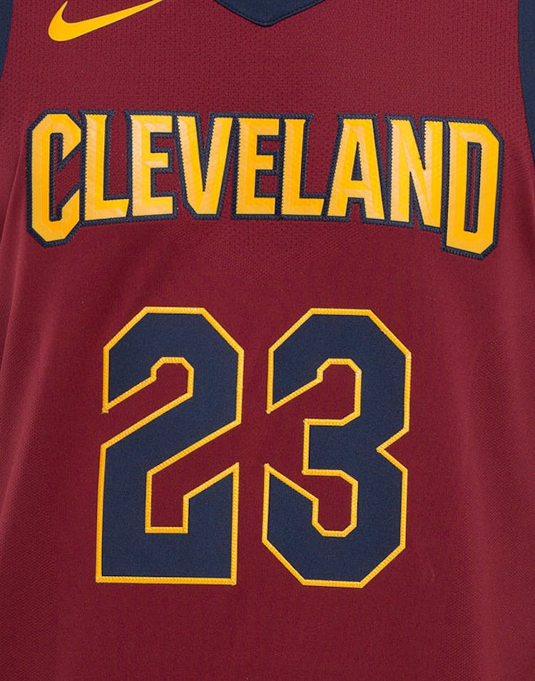 buy popular 76610 1a574 Nike LeBron James #23 Cleveland Cavaliers Icon Edition Authentic NBA Jersey  Red