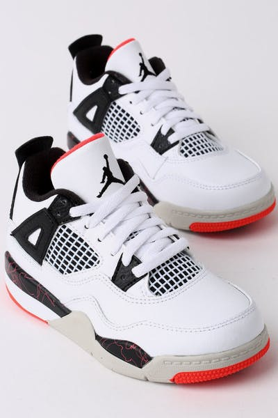 Jordan Air Jordan 4 Retro (PS) White/Black/Crimson