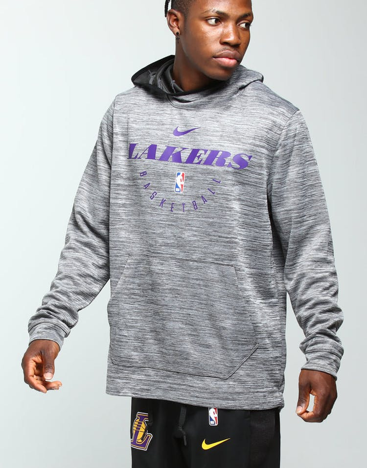 stable quality latest design where to buy Nike Los Angeles Lakers Spotlight Hoodie Pull Over Carbon/Purple/Black