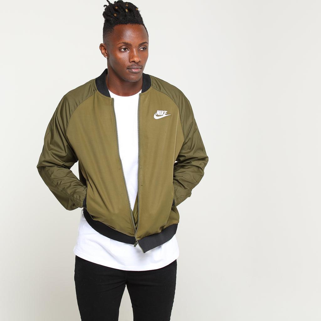 Nike Sportswear Woven Players Jacket OliveBlack