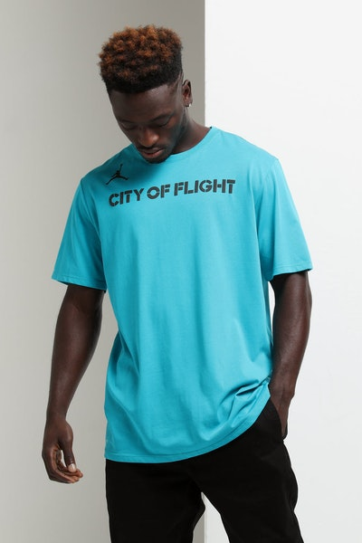 Nike Charlotte Hornets City Edition NBA Dri-Fit Tee Teal