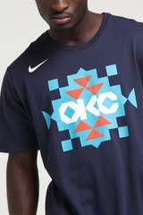 NIKE OKLAHOMA CITY THUNDER CITY EDITION NBA DRI-FIT TEE NAVY