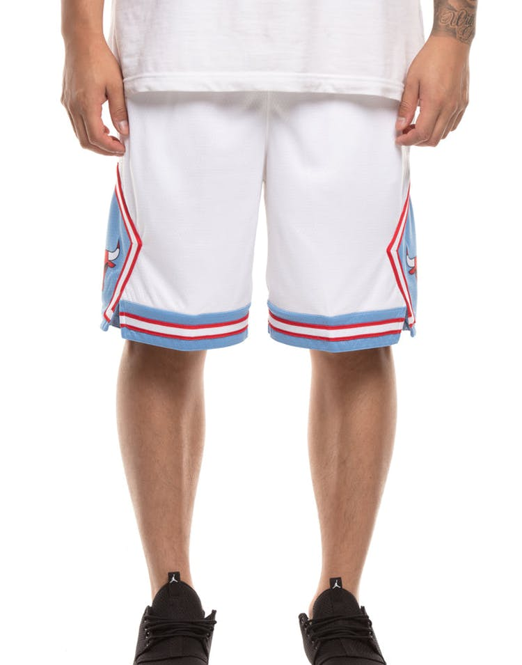 new concept 0e9e2 cfeb3 Chicago Bulls Nike NBA City Edition Swingman Shorts White/Blue