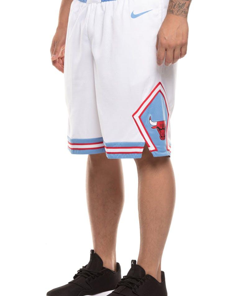 new concept 3f92b 5be15 Chicago Bulls Nike NBA City Edition Swingman Shorts White/Blue