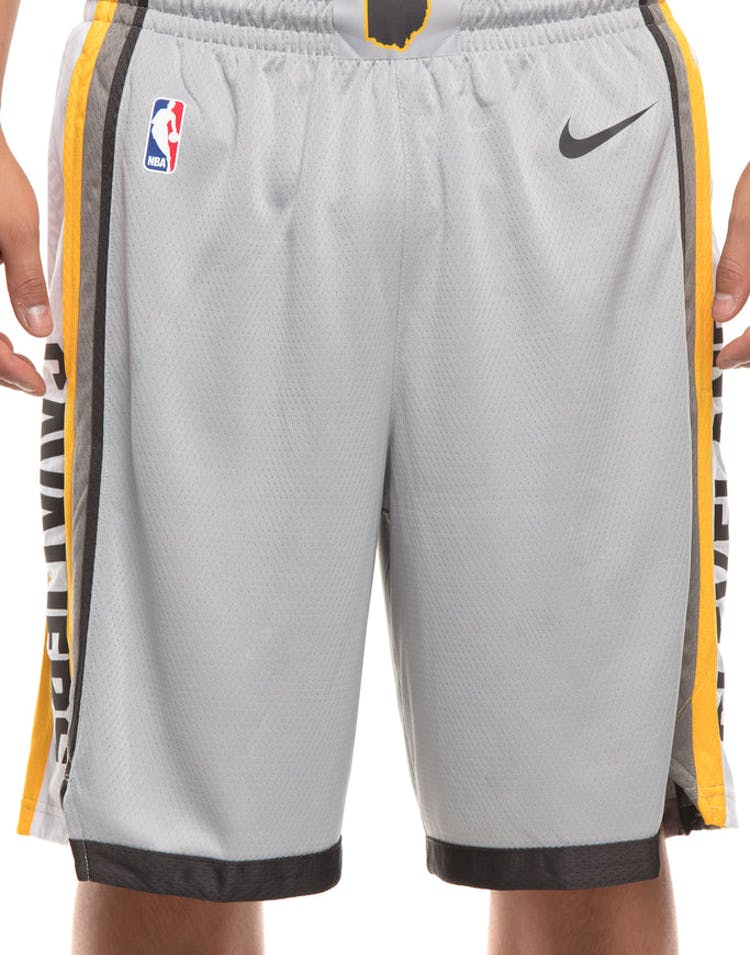 f27a4a79bc2 Cleveland Cavaliers Nike NBA City Edition Swingman Shorts Silver Dark Grey