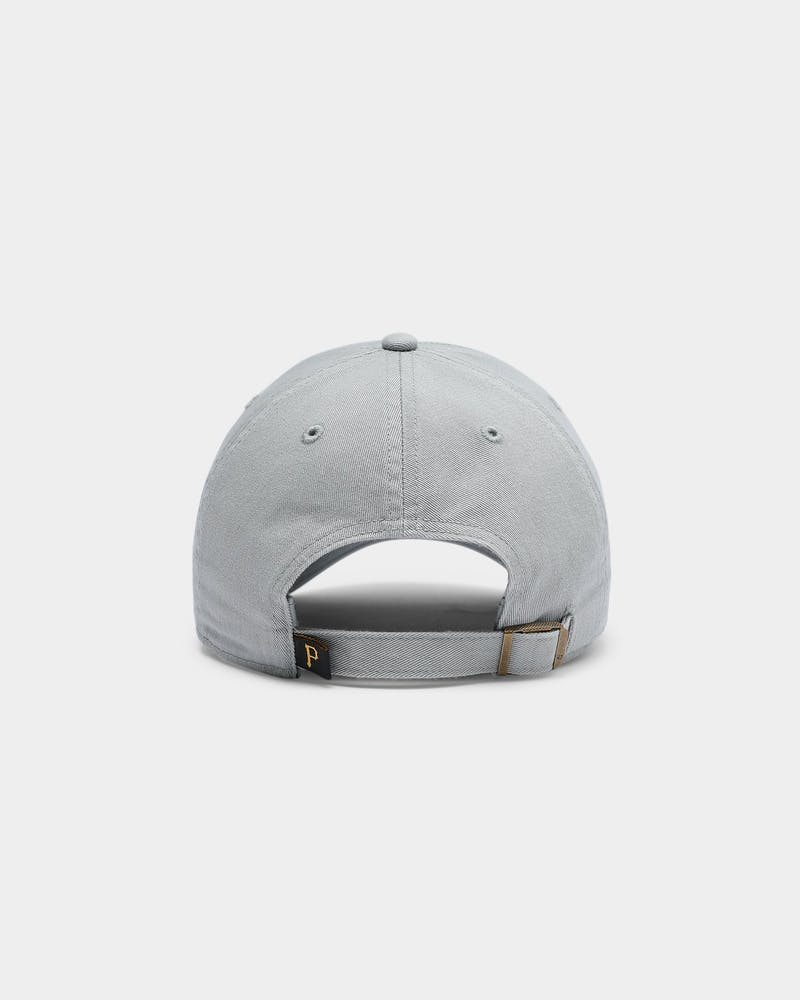 47 Brand Men's Pittsburgh Pirates Clean Up Strapback Grey