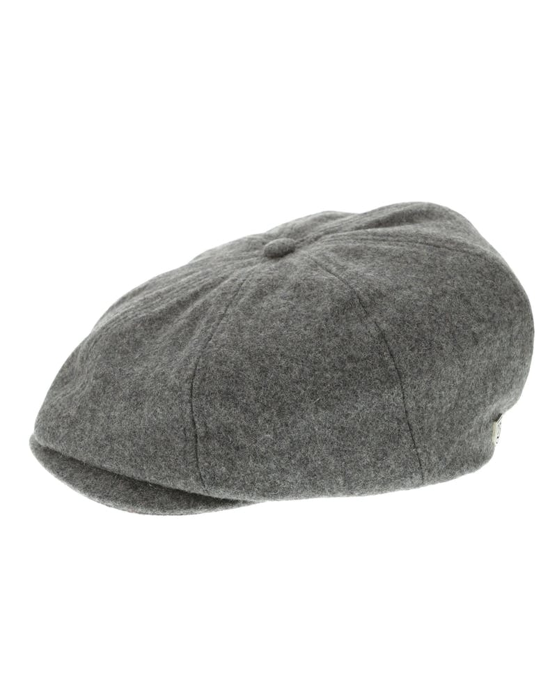 Brixton Brood Snap Cap Dark Grey