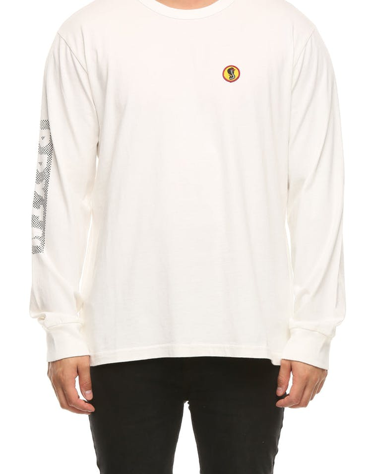 Brixton Fang Long Sleeve Knit Tee Off White