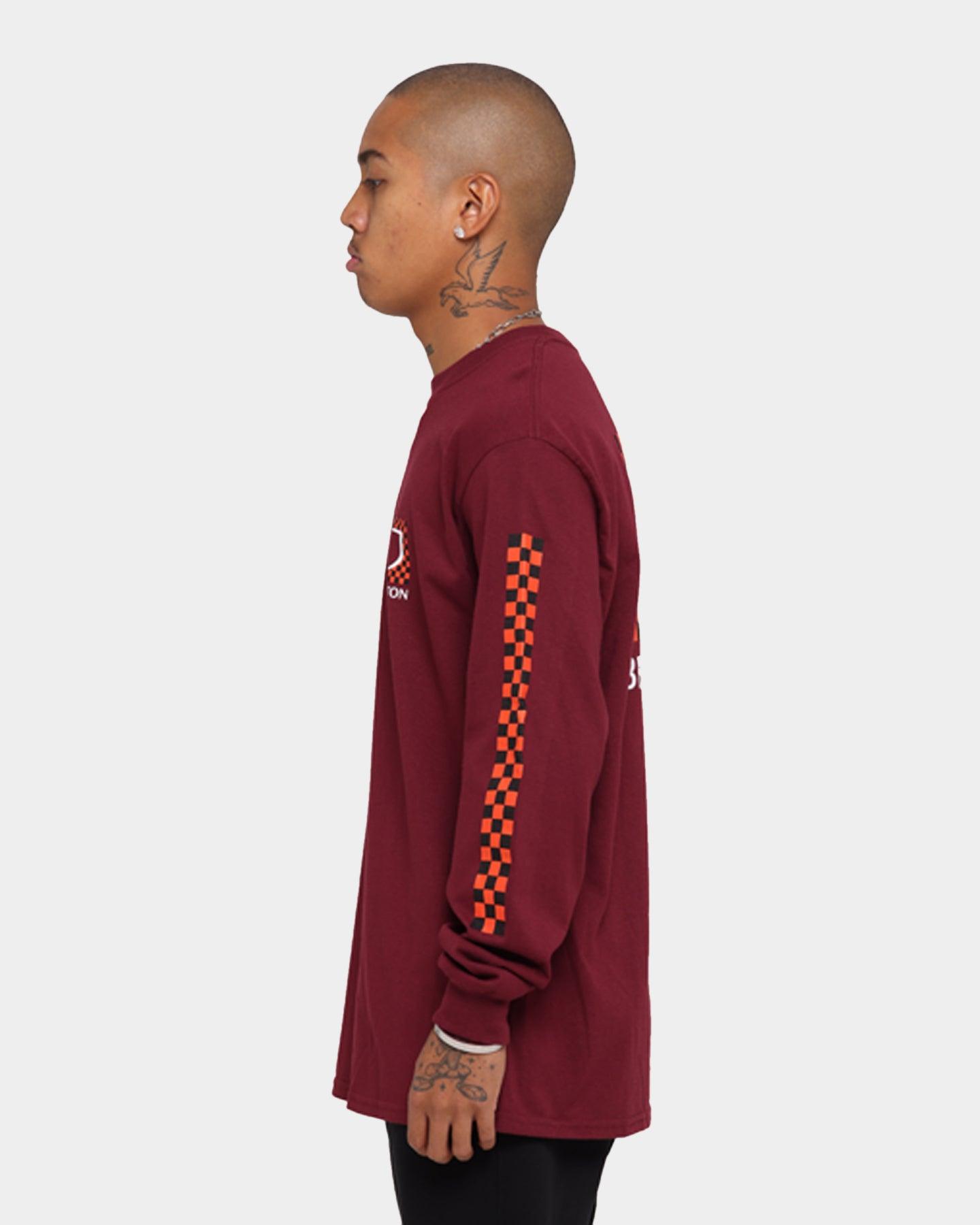 Brixton descente STT T-shirt à manches courtes-Rouge Toutes Tailles