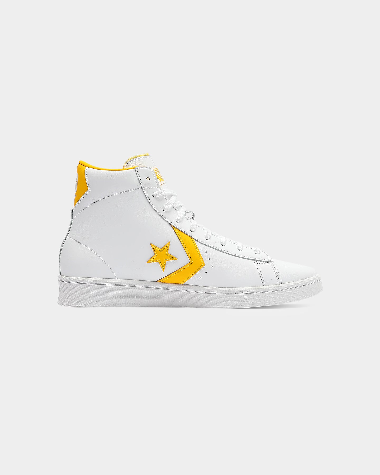 Converse Pro Leather white and yellow casual shoes for men and women, sneakers