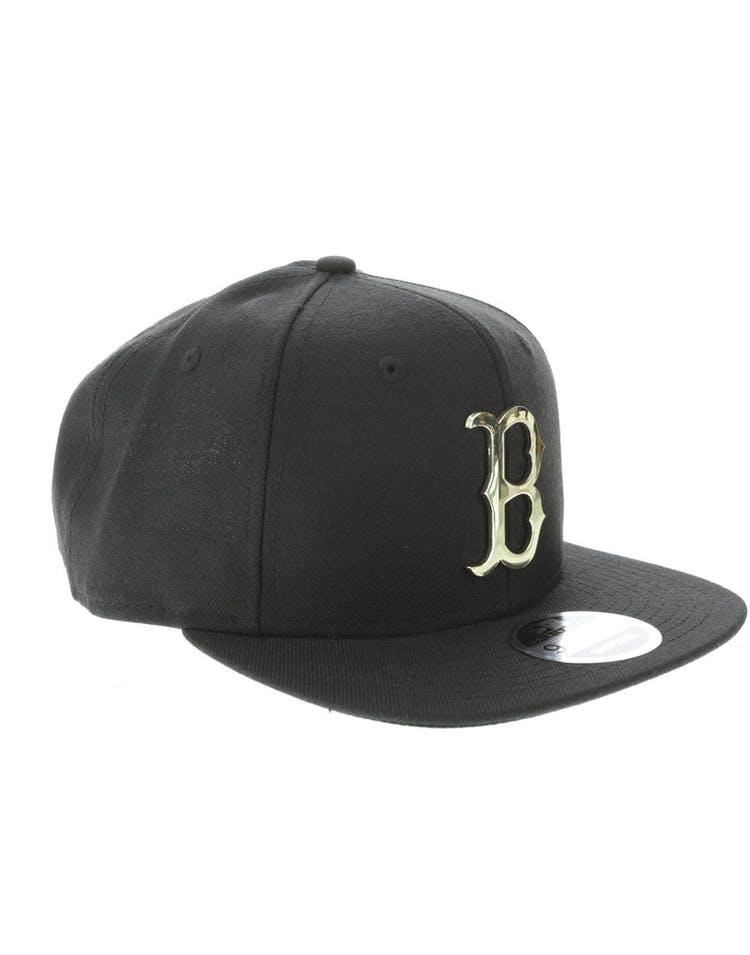 New Era Boston Red Sox Metal 9FIFTY Snapback Black/Gold