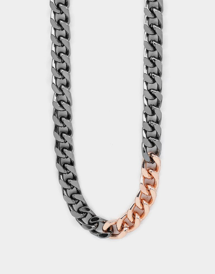 Wild For The Weekend Solid ID Chain Gunmetal