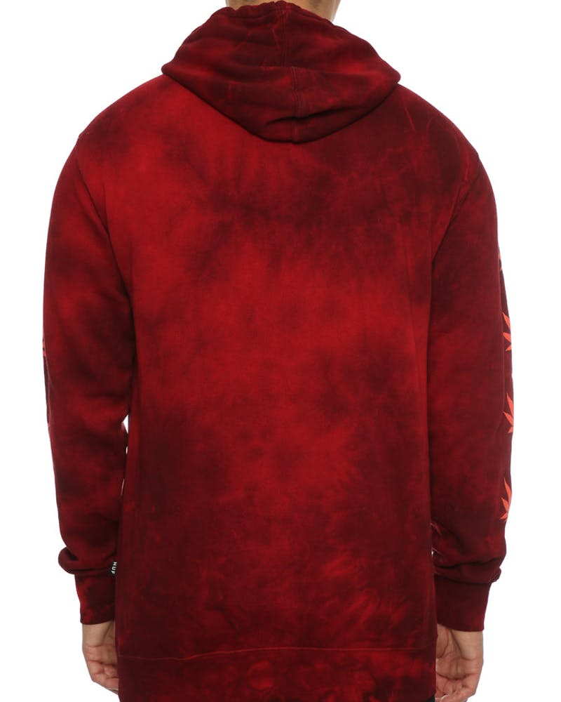 Huf 420 Overdyed Plantlife Hood Smoke Red
