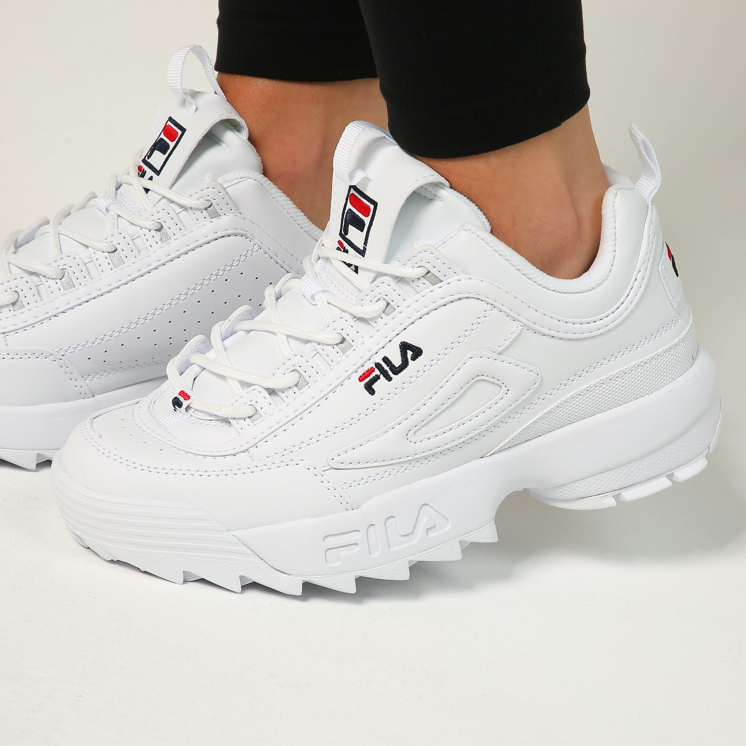 Fila Women's Disruptor II WhiteNavyRed