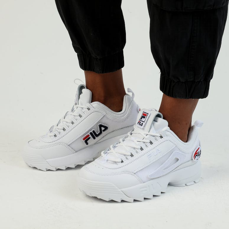 Fila Women's Disruptor II Patches White