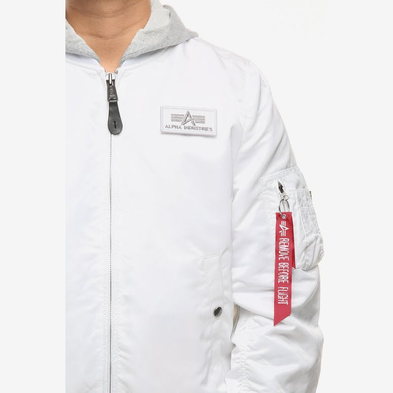 Alpha Industries L-2B Hooded Jacket White