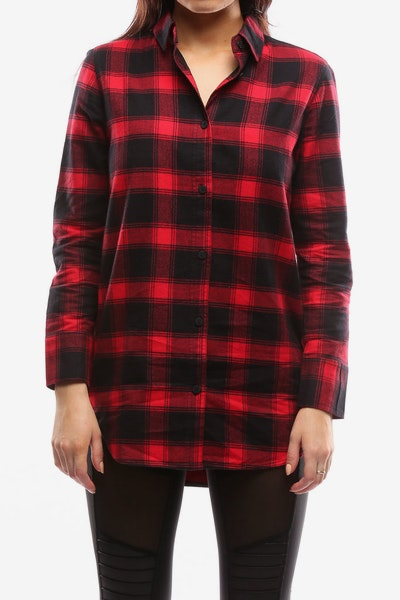 Nana Judy Women's Kylie Plaid Shirt Red/Black
