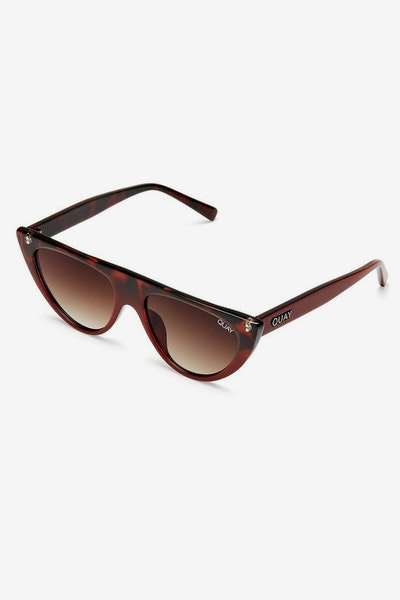 Quay Sunglasses Run Away Tortoise/Brown