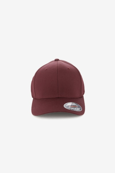 Flexfit Worn By The World Fitted Burgundy