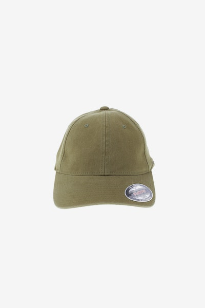 Flexfit Garment Washed Lo Pro Fitted Hat Dark Tan