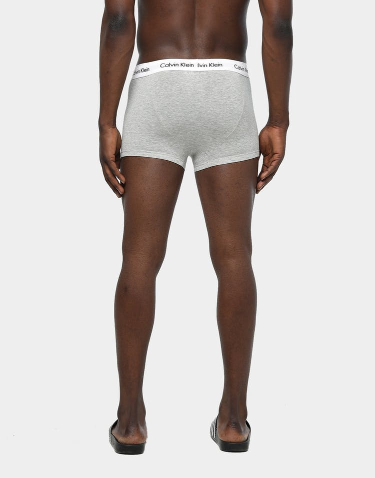 Calvin Klein Men's Low Rise Trunk 3 Pack Black/White/Grey