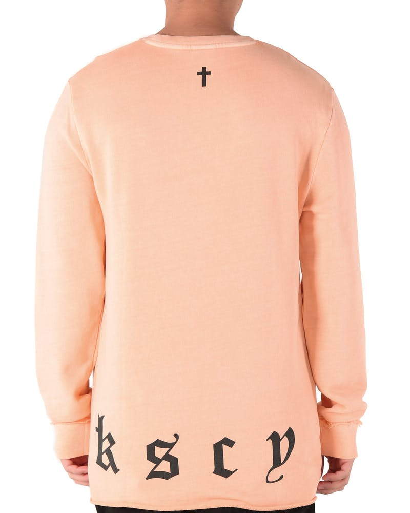 Kiss Chacey Clouds Long Sleeve Sweat Peach