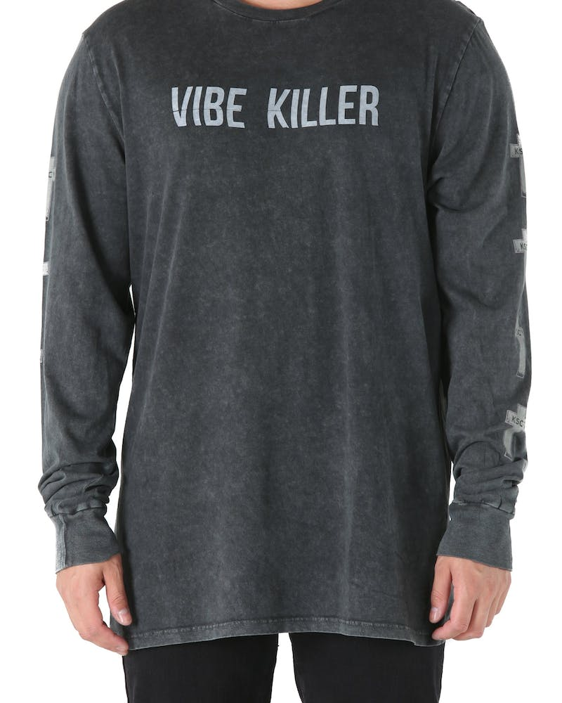 Kiss Chacey Vibe Killer Long Sleeve Tee Black Vintage