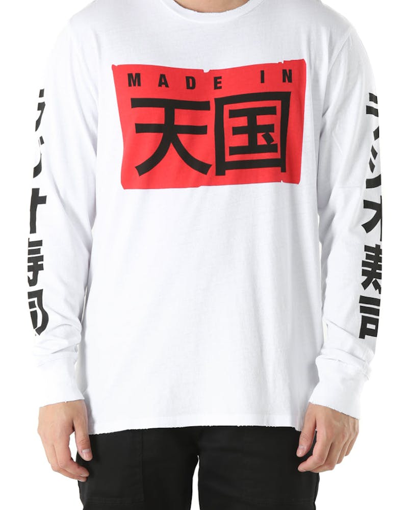 Sushi Radio Big Japan LS Tee White
