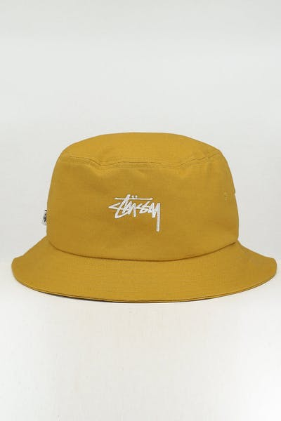 Stussy Stock Bucket Hat Mustard