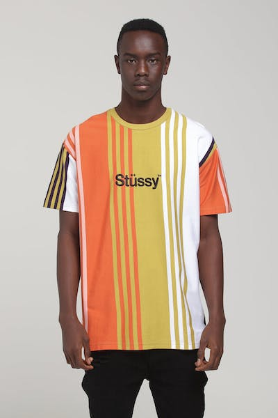 Stussy Vert Stripe Tee Multi-Coloured