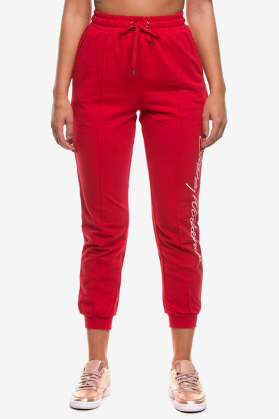Stussy Women's Worldwide Trackpant Red