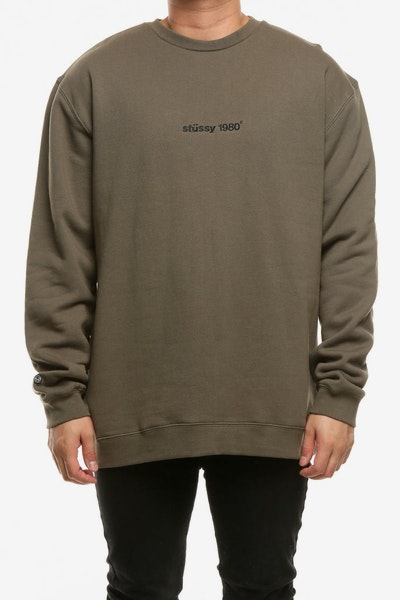 Stussy 80-18 Crew Dark Earth