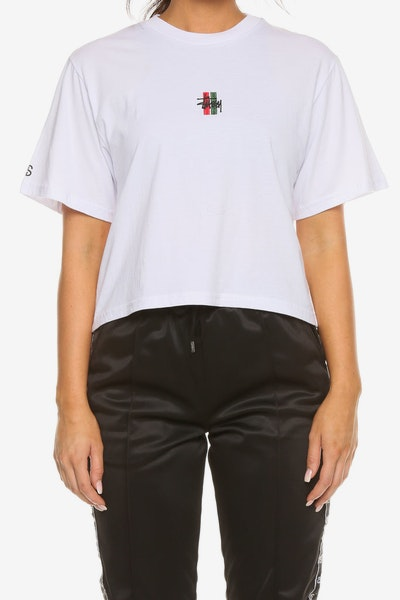 Stussy Women's Graffiti OS Crop Tee White