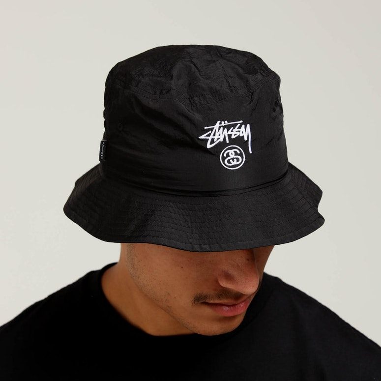 51b1f965fd1 Stussy Crushable Stock Bucket Hat Black – Culture Kings US