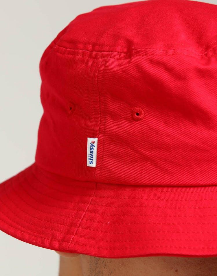 8ea5df4d Stussy Stock Bucket Hat Vintage Red – Culture Kings US