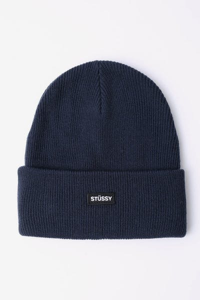 Stussy Badge Cuff Beanie Dark Navy