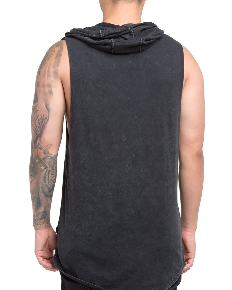 Silent Theory Core Hooded Muscle Acid Black