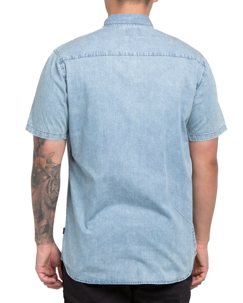 Silent Theory Worker SS Shirt Light Blue