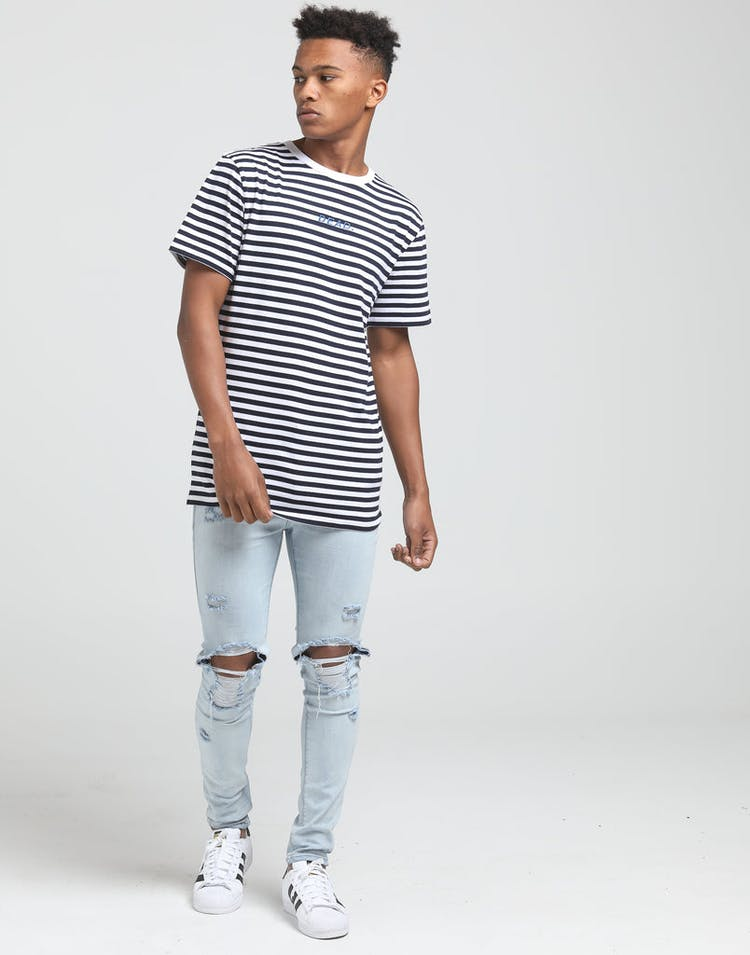 Dead Studios Striped Embroidered Tee Stripe