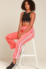 Champion Women's Track Pant Papaya/White/Black