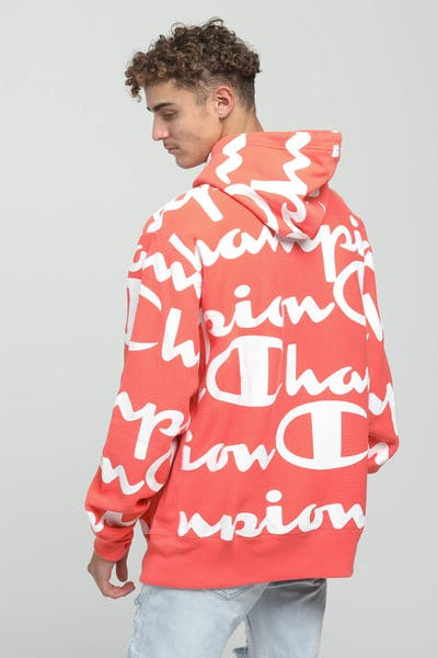Champion Reverse Weave All-over Hoodie Groovy Papaya