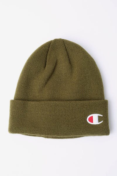 Champion C Life Logo Beanie Army Green