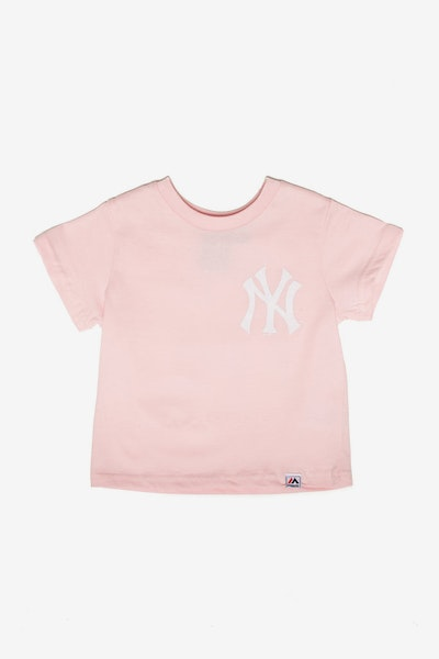 Majestic Athletic Toddler New York Yankees Team Logo Tee Pink
